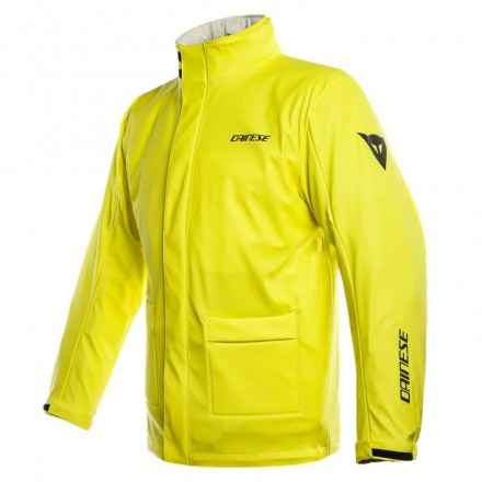 Giacca moto scooter antipioggia Dainese Storm giallo fluo yellow waterproof rainproof jacket