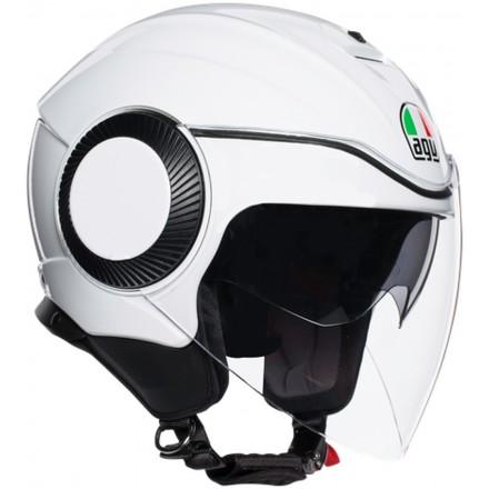 Casco jet aperto moto scooter Agv Orbyt bianco perla white pearl helmet casque