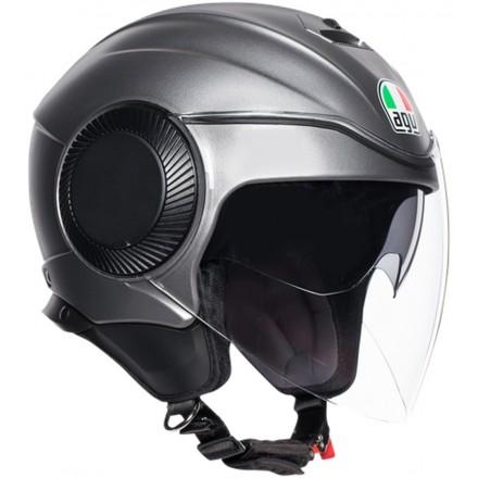 Casco jet aperto moto scooter Agv Orbyt grigio opaco grey matt helmet casque
