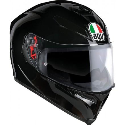 Casco integrale moto Agv K5 s pinlock nero lucido Black helmet