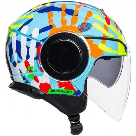 Casco jet aperto moto scooter Agv Orbyt Valentino Rossi Misano 2014 helmet casque