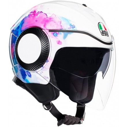 Casco jet donna aperto moto scooter Agv Orbyt Mayfair White purple green lady woman helmet casque