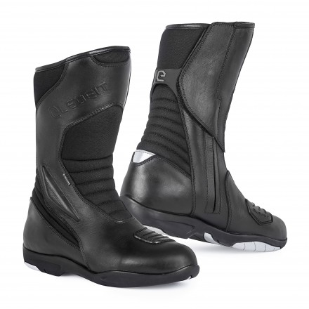 Stivali moto touring adventure impermeabile Eleveit T Road Wp nero black waterproof boots