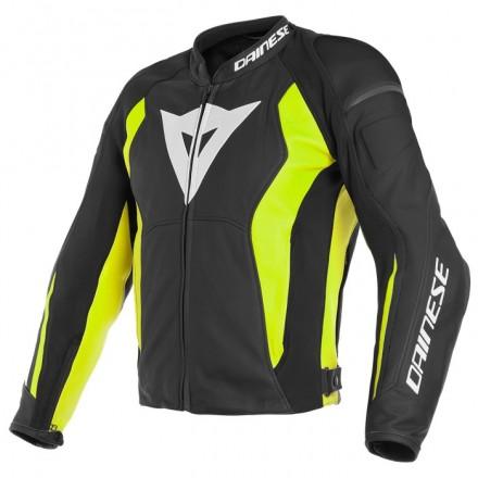 Giacca pelle moto Dainese Nexus nero giallo black yellow fluo N49 leather jacket