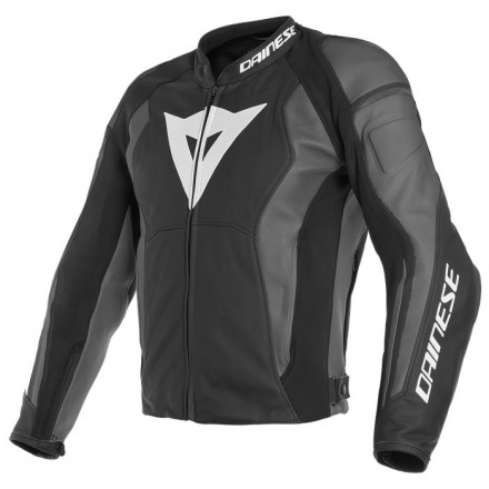 Giacca pelle moto Dainese Nexus nero grigio black ebony Y21 leather jacket