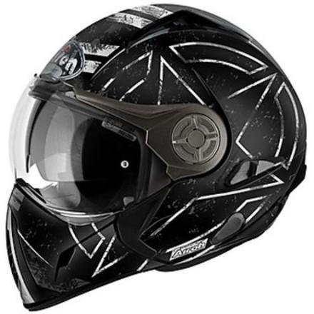 Casco integrale modulare jet mentoniera estraibilie Airoh J106 Command nero opaco black matt helmet casque
