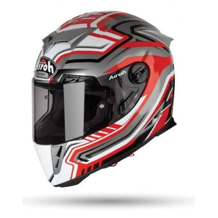 Casco moto integrale fibra carbonio Airoh GP 500 Rival rosso red helmet casque