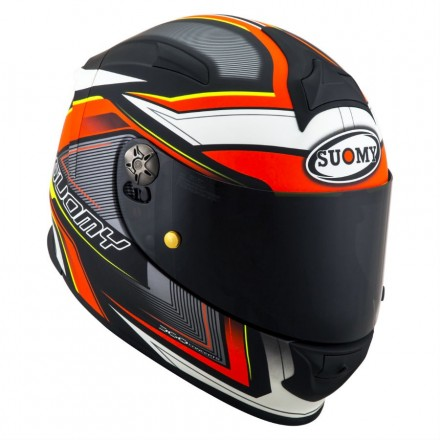 Casco integrale moto fibra carbonio Suomy Sr Sport Engine nero opaco rosso matt black red helmet casque KSSR0037