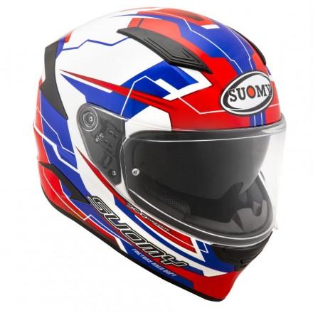 Casco integrale moto carbonio Suomy Speedstar Camshaft blu bianco rosso blue white red helmet casque
