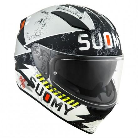 Casco integrale moto carbonio Suomy Speedstar Propeller matt silver black helmet casque
