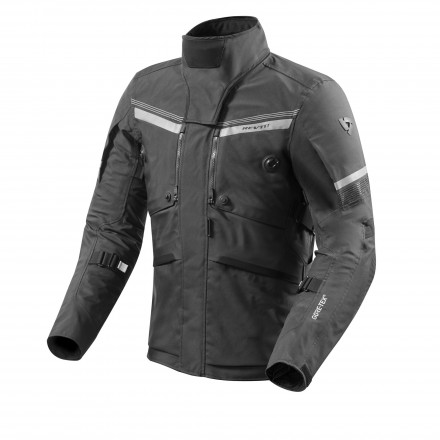 Giacca moto touring adventure triplo strato Rev'it Poseidon 2 Goretex GTX Nero black 3 layers jacket