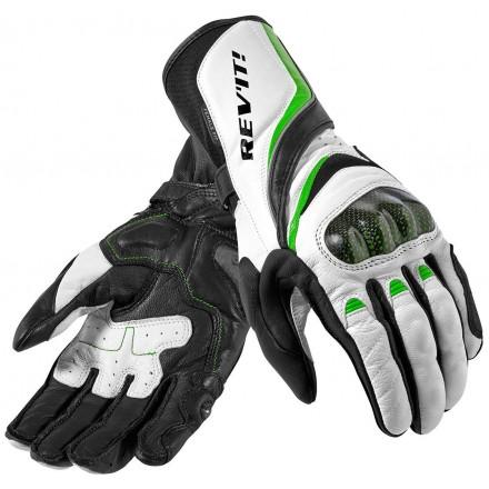 Guanti pelle donna sportivi Rev'It Xena Ladies Bianco verde white green woman lady leather gloves