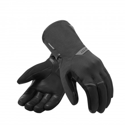 Guanti donna moto touring invernali antipioggia Rev'It Chevak Goretex Nero black ladies woman winter waterproof gloves