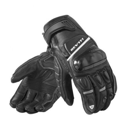 Guanti pelle moto racing sportivi primavera estate Rev'It Chicane nero bianco Black white spring summer leather gloves