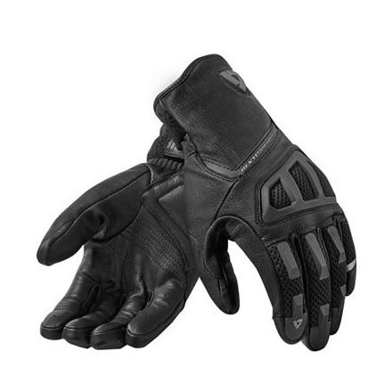 Guanti moto pelle Rev'It Ion Nero black leather gloves