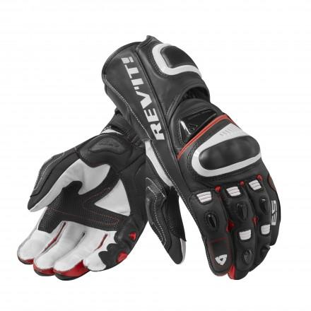 Guanti pelle canguro moto racing pista corsa Rev'It Jerez 3 Nero rosso black red leather gloves