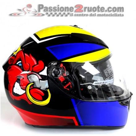 Casco integrale moto Agv K3 Sv Angry Bull Limited Edition helmet casque