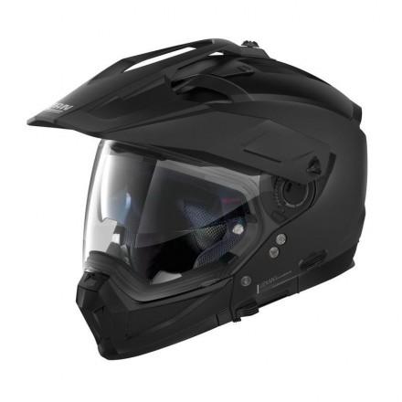 Casco crossover jet integrale modulare moto N70-2 X Classic 10 nero opaco flat black N-com helmet casque