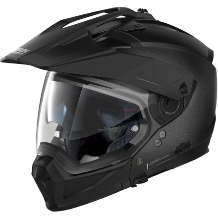 Casco crossover jet integrale modulare moto N70-2 X Special 9 nero black graphite N-com helmet casque