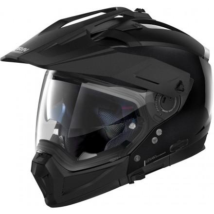 Casco crossover jet integrale modulare moto N70-2 X Special 12 nero metal black N-com helmet casque