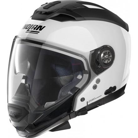 Casco crossover jet integrale modulare moto N70-2 GT Special bianco pure white 15 N-com helmet casque