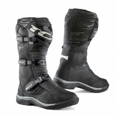 Stivali moto adventure touring Tcx Baja alti nero black High wp waterproof boots