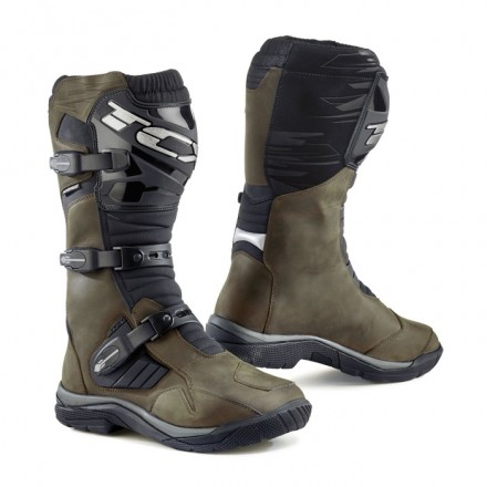 Stivali moto adventure touring Tcx Baja alti marrone brown High wp waterproof boots