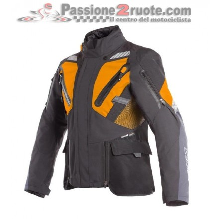 Giacca moto touring adventure Dainese Gran Turismo Goretex nero arancione black orange jacket