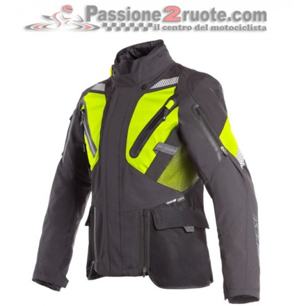 Giacca moto touring adventure Dainese Gran Turismo Goretex nero giallo black fluo yellow jacket