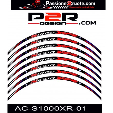 Adesivi cerchi Bmw S1000 XR nero black wheel stickers