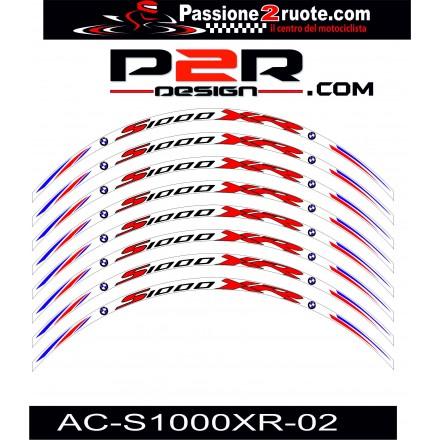 Adesivi cerchi Bmw S1000 XR bianco white wheel stickers