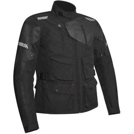 Giacca moto adventure touring Acerbis Discovery Safary nero black jacket