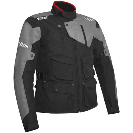 Giacca moto adventure touring Acerbis Discovery Safary nero grigio black grey jacket