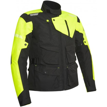 Giacca moto adventure touring Acerbis Discovery Safary nero giallo black yellow jacket