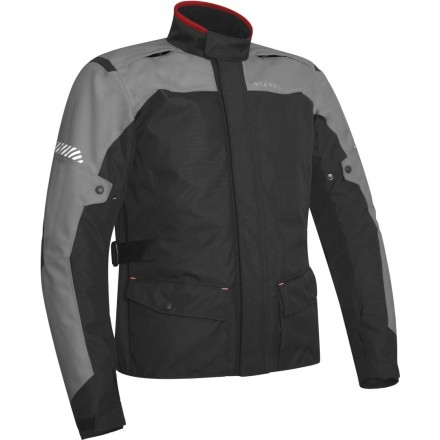 Giacca moto adventure touring Acerbis Discovery Forest nero grigio black grey jacket
