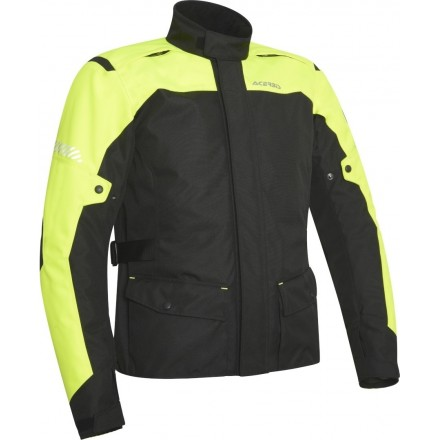 Giacca moto adventure touring Acerbis Discovery Forest nero giallo black yellow jacket