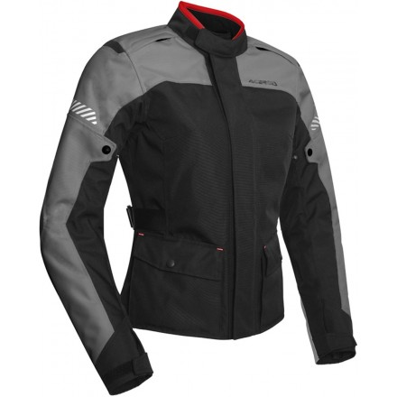 Giacca donna moto adventure touring Acerbis Discovery Forest lady nero grigio black grey ladies woman jacket