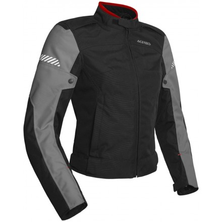 Giacca donna moto Acerbis Discovery Ghibly lady nero grigio black grey ladies woman jacket