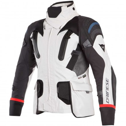 Giacca moto touring adventure Dainese Antartica Goretex grigio chiaro nero light grey black jacket