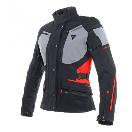 Giacca donna moto touring Dainese Carve Master 2 lady Goretex nero grigio rosso black forest grey red ladies woman jacket