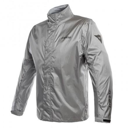 Giacca moto scooter antipioggia Dainese Rain Jacket argento silver waterproof rainproof jacket