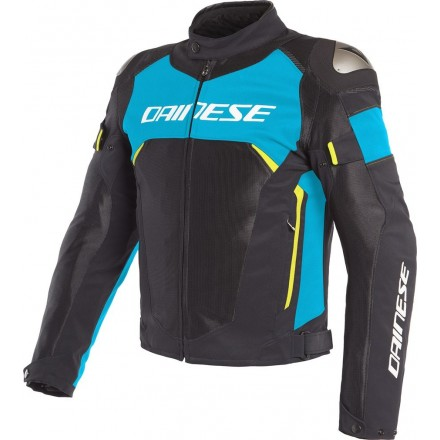 Giacca Dainese Dinamica D-Dry nero blu giallo Black fire blue yellow Fluo 07A jacket moto sport touring