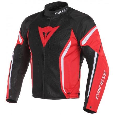 Giacca moto estiva traforata Dainese Air Crono 2 Tex nero rosso bianco black red white 678 spring summer jacket