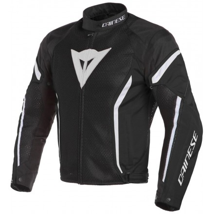 Giacca moto primavera estate Dainese Air Crono 2 Tex nero bianco black white 948 spring summer jacket
