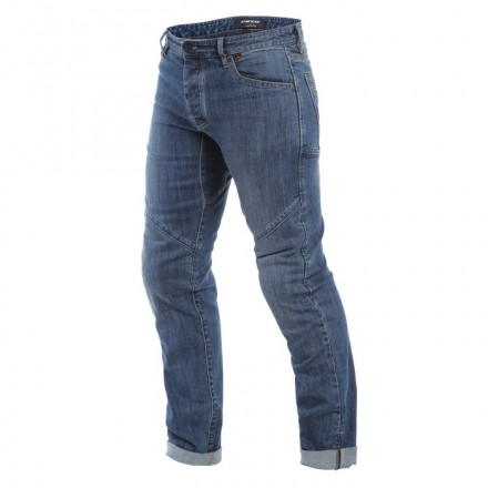 Pantaloni jeans moto Dainese Tivoli Regular blu medium denim trouser