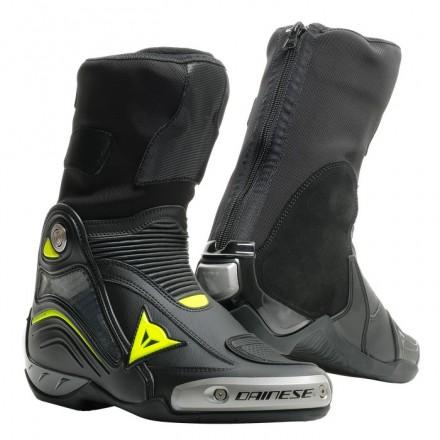 Stivali moto racing pista corsa Dainese Axial D1 nero giallo black fluo yellow Boots