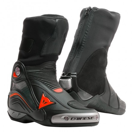Stivali moto racing pista corsa Dainese Axial D1 nero rosso black red fluo Boots