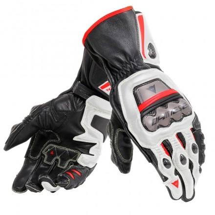 Guanti moto racing pista corsa Dainese Full metal 6 nero bianco rosso black white red lava gloves