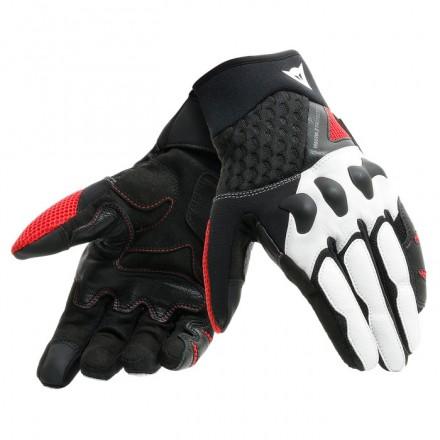 Guanti moto primavera estate Dainese X-moto nero bianco rosso black white lava red spring summer gloves