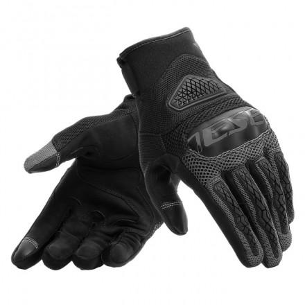 Guanti moto primavera estate Dainese Bora nero antracite black spring summer gloves
